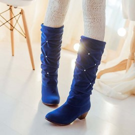 Ericdress Charming Rhinestone Decorated Knee High Boots