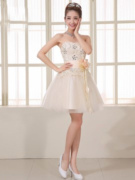 Pretty Sweetheart Beading Lace Bridesmaid Dress