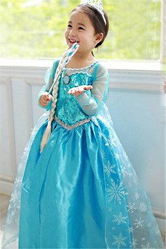 Ericdress Halloween Frozen Alsa Princess Cosplay Party Dress Girls Costume