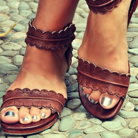 Ericdress Cool brun Open Toe Flat Sandals