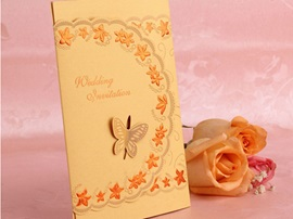 Butterfly Groom And Bride Wedding Invitation (20 Pieces One Set)