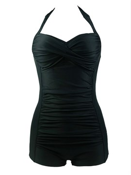 Ericdress Black Halt Backless Swimwear