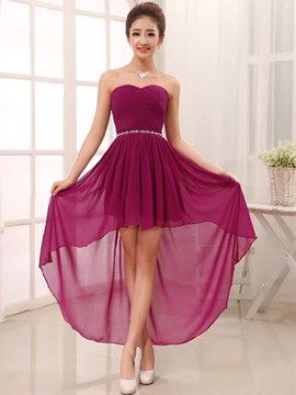Ericdress Fancy Beading Asymmetry Sweetheart Bridesmaid Dress