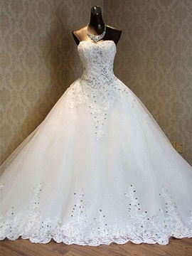 Ericdress luxe Sweetheart perles robe de mariée chapelle Train