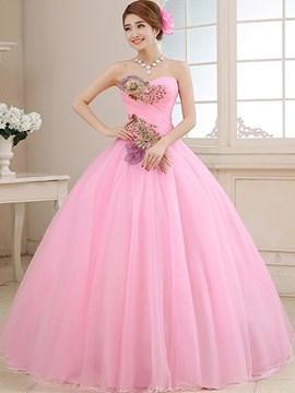 noble Schatz-Stickerei-Ballkleid quinceanera Kleid