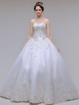 Ericdress Amazing Appliques Ball Gown Wedding Dress