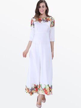 Ericdress Print Long Maxi Dress