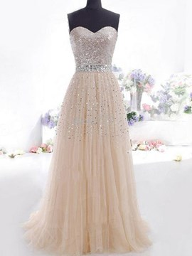 Ericdress A-Line Sweetheart Sequins Prom Dress With Beadings