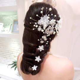 Exquisite Pearl Small Flower Headwear (The Picture Is Pluri- Plusieurs)