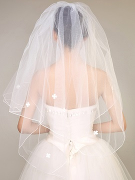 Concise Flowers Wedding Veil