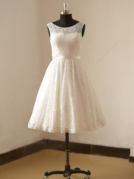 Ericdress Short Lace Summer Beach Wedding Dress