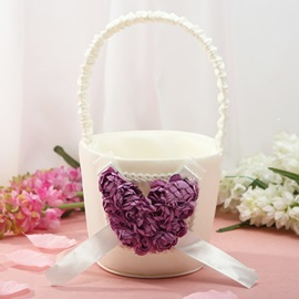 Beautiful Flower Basket in Satin