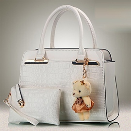 Ericdress Trendy All Match Patent Leather Handbag