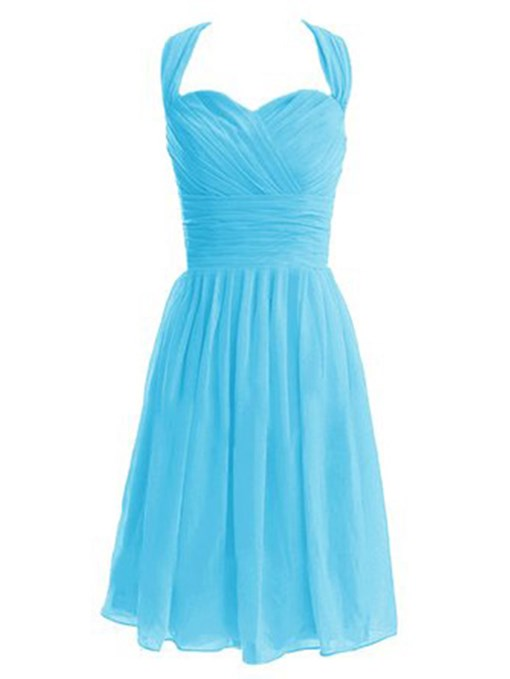 Ericdress Beautiful Halter Chiffon Bridesmaid Dress