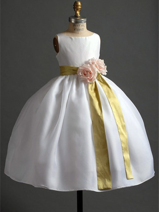 Ericdress Ball Gown Sashes Flower Girl Dress