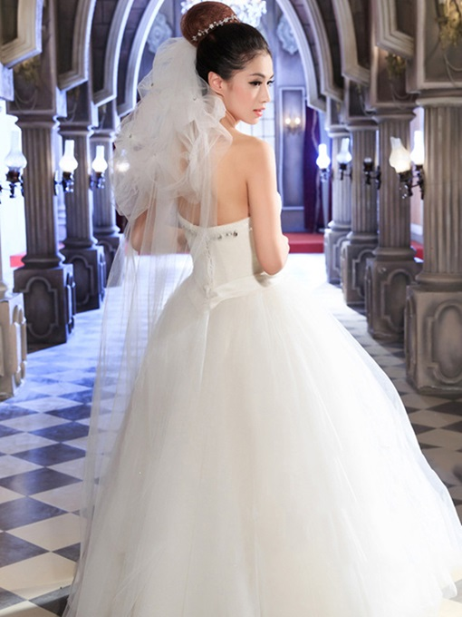Concise Double-deck Wedding Veil