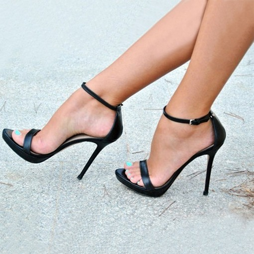 Ericdress Chic Open Toe Ankle Strap Stiletto Sandals