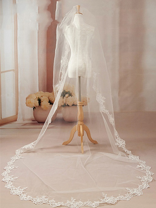 Ericdress Long Lace Border Wedding Veil