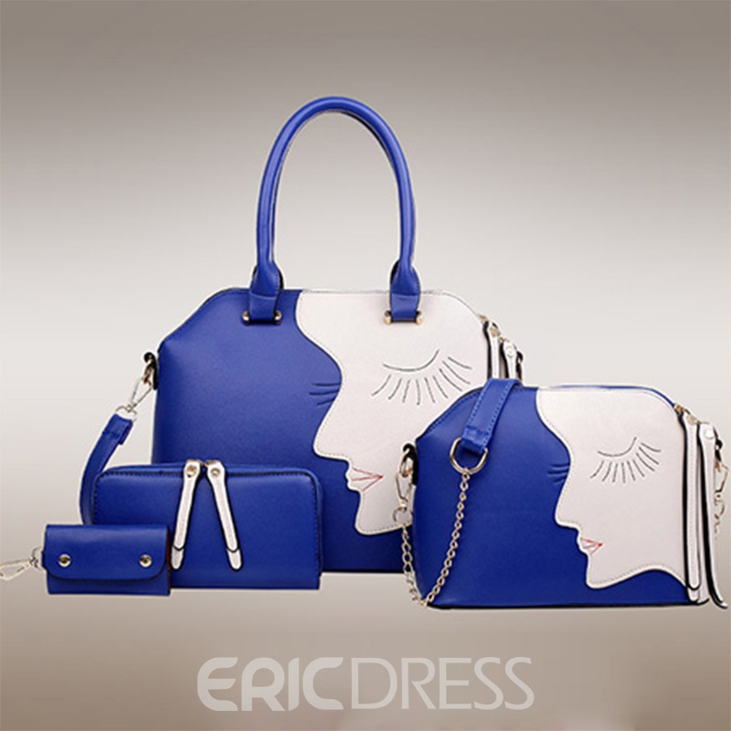 Ericdress Trendy All Match Patchwork Tote Bags(4 Bags) 11455254