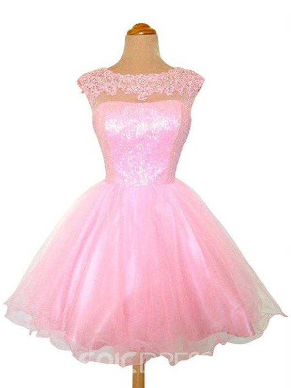 Ericdress Appliques A-Line Tulle Homecoming Dress