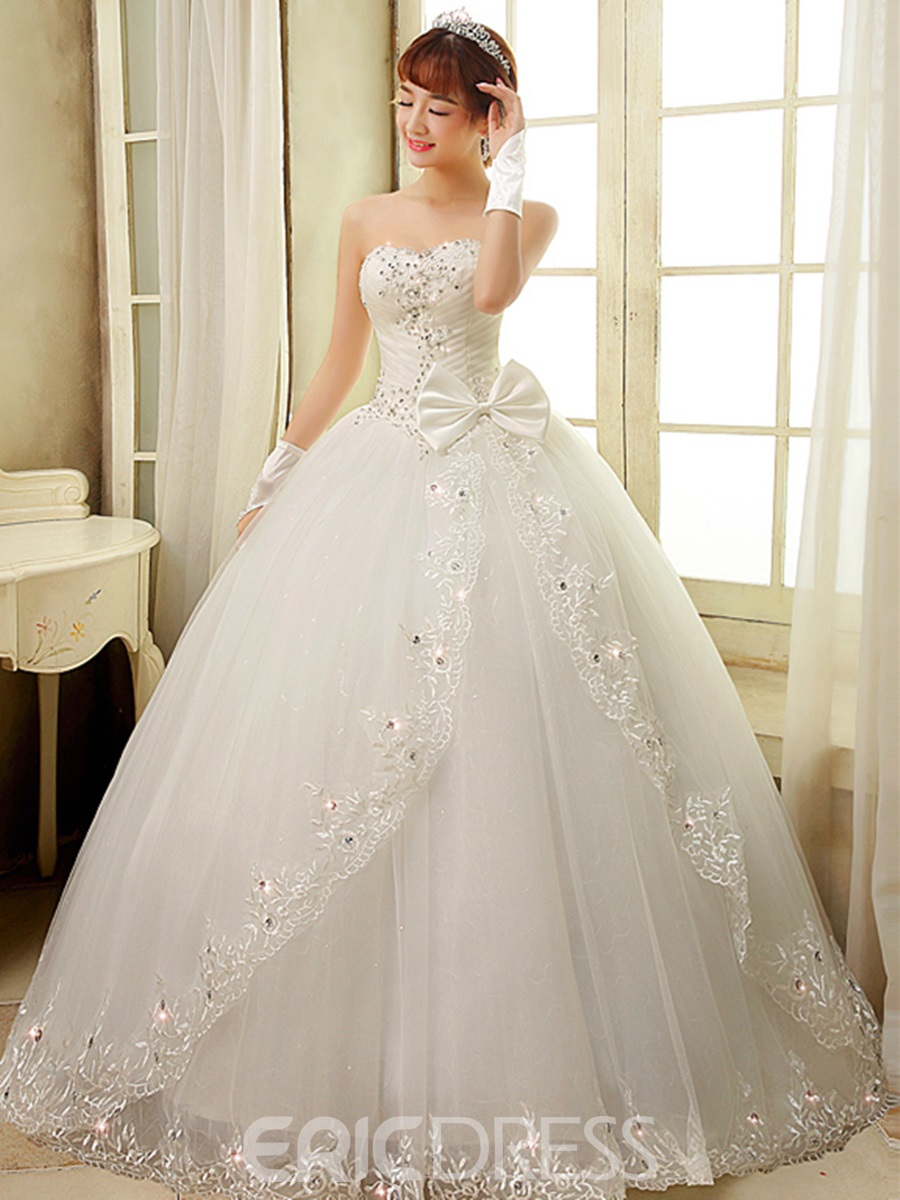 Ericdress Pretty Sweetheart Bowknots Ball Gown Wedding Dress ...