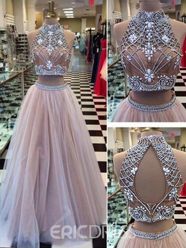 Ericdress Two Pieces Beading Prom Dress