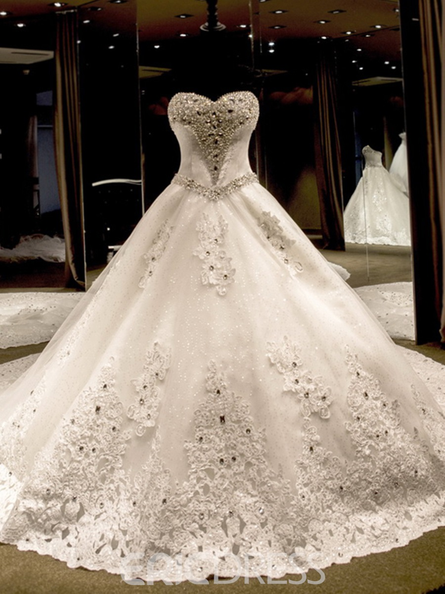 Ericdress Sweetheart Beading Cathedral Train Wedding Dress 11303103 ...