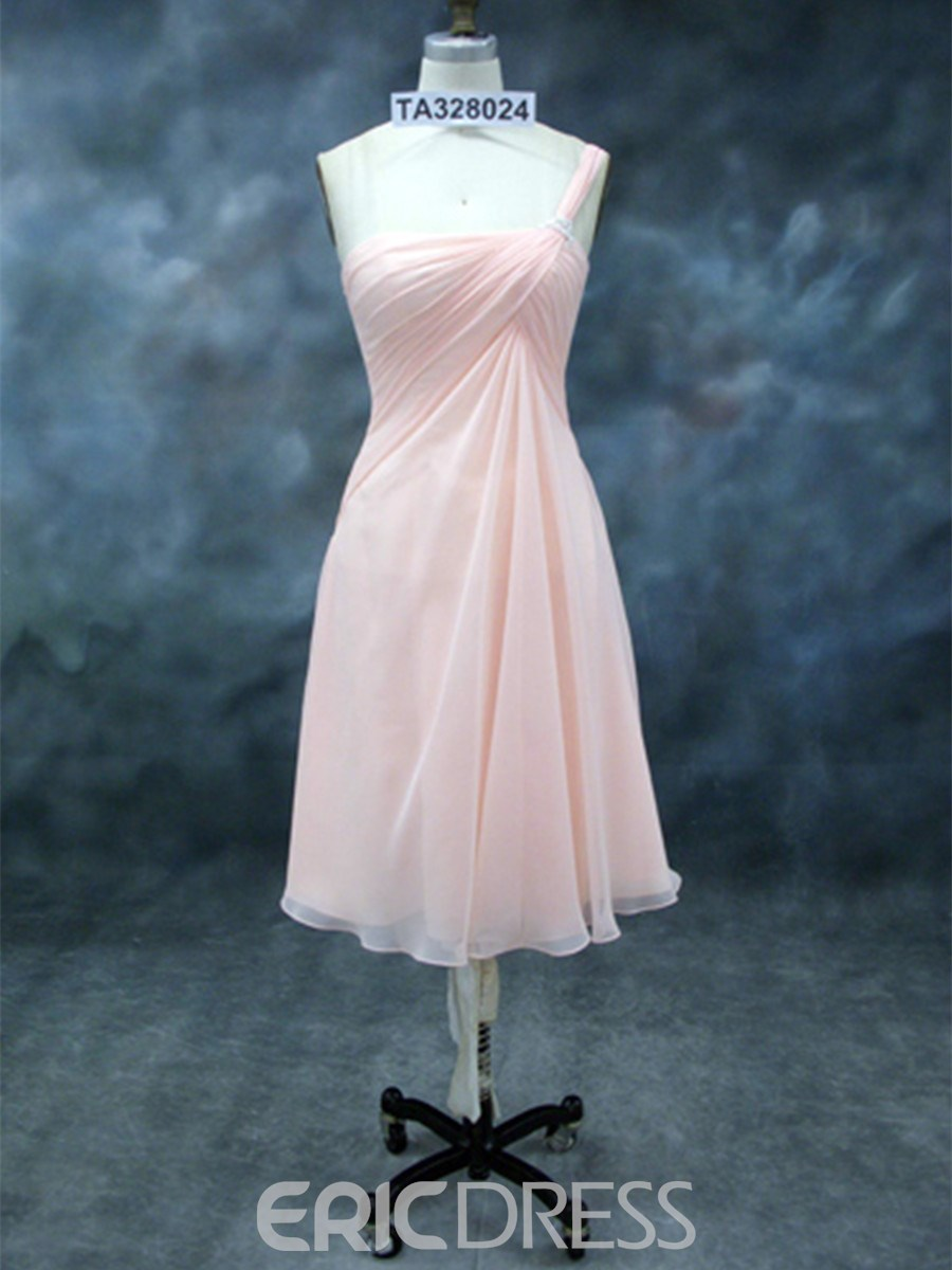 Charming A-Line One-Shoulder Bridesmaid Dress