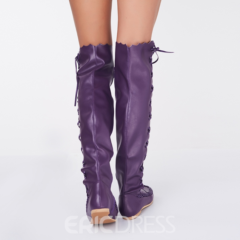 Ericdress Unique Lace-up Knee High Boots
