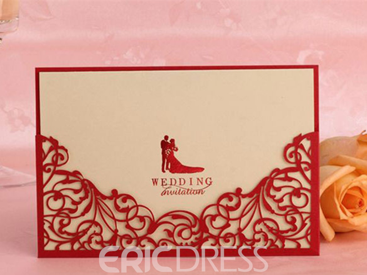 Personalized Carved Hollow Out Wedding Invitation (20 Pieces One Set)