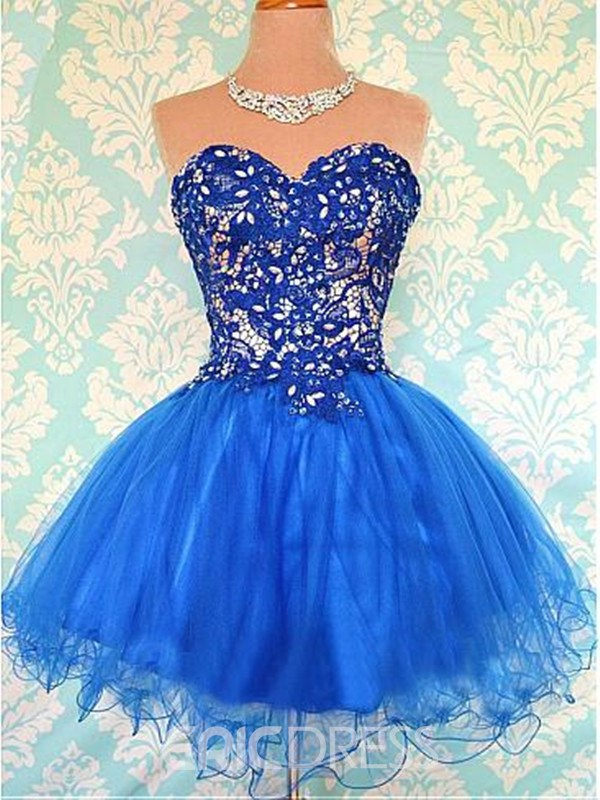 Ericdress Sweetheart A-Line Lace Mini Homecoming Dress