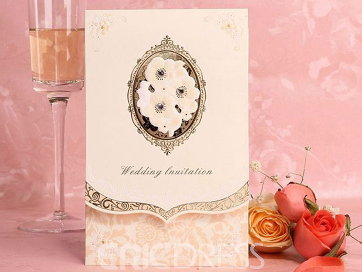 Personalized Solid Printing Wedding Invitation (20 Pieces One Set)