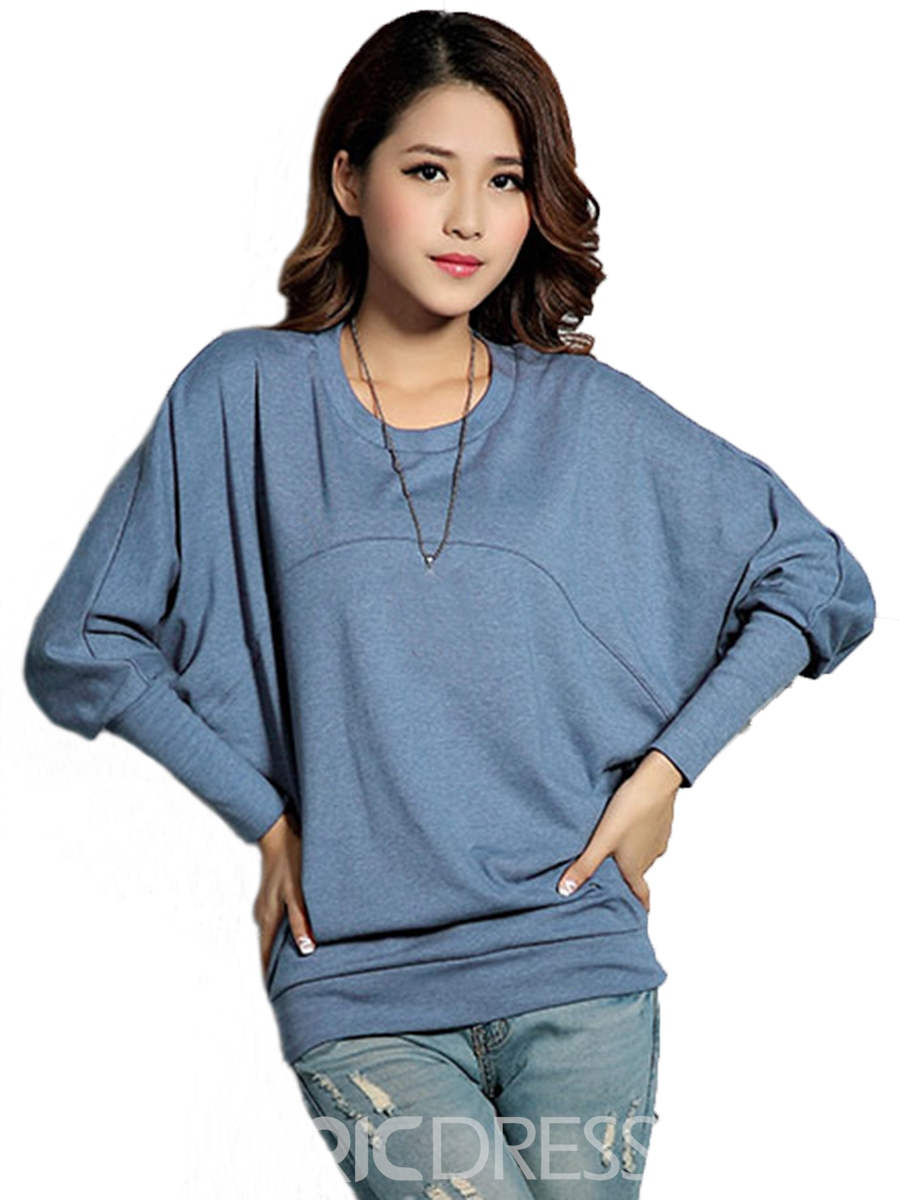 Ericdress Plain Batwing Casual T-Shirt