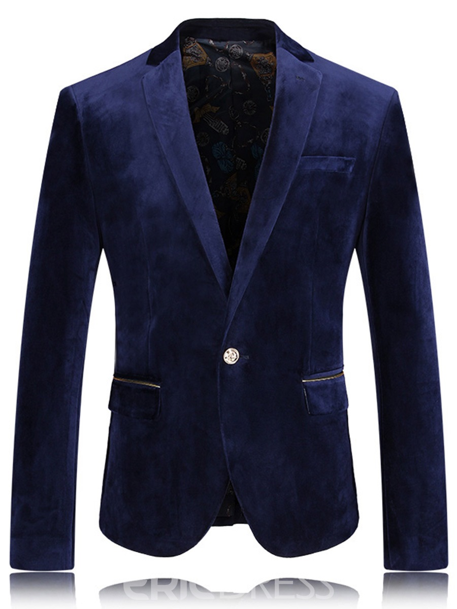 Ericdress One Button Plain Classic Men's Blazer