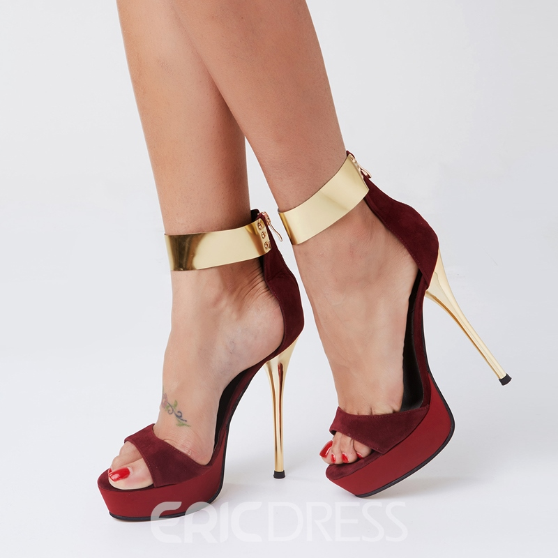 Sexy Metal Ankle Wrap Stiletto Sandals