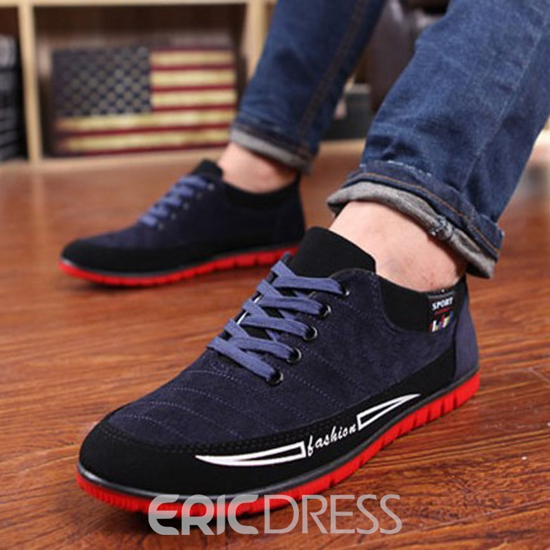 Ericdress Round Toe Color Block Lace-Up Front Men's Loafers