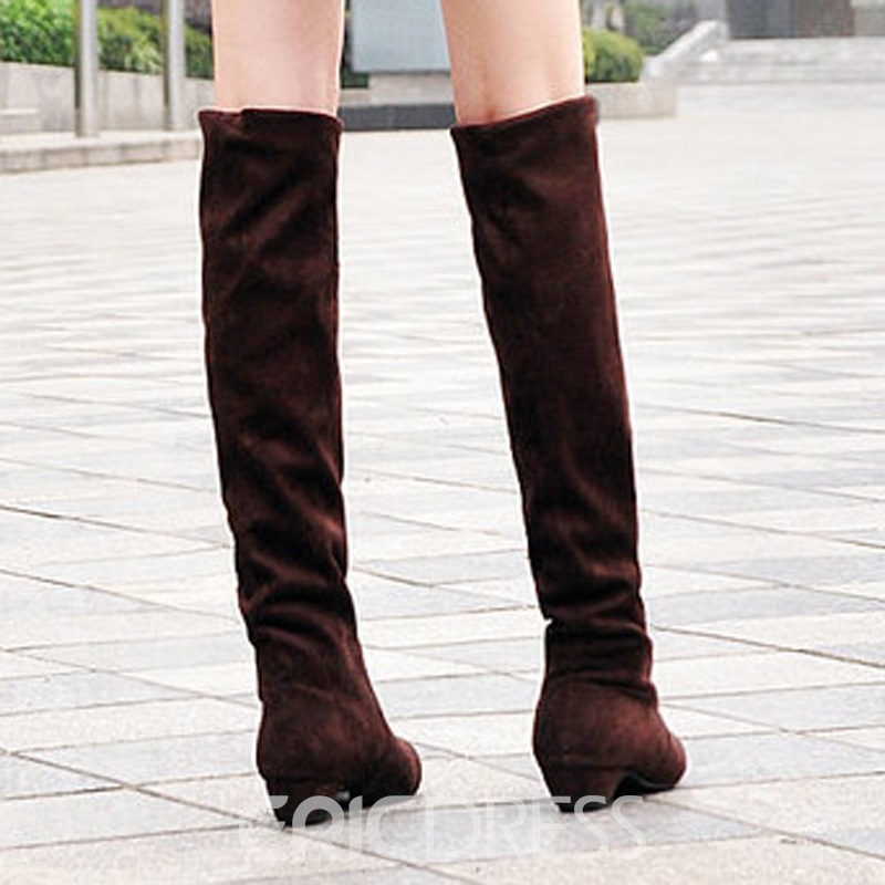 Ericdress Ladylike Suede Knee High Boots