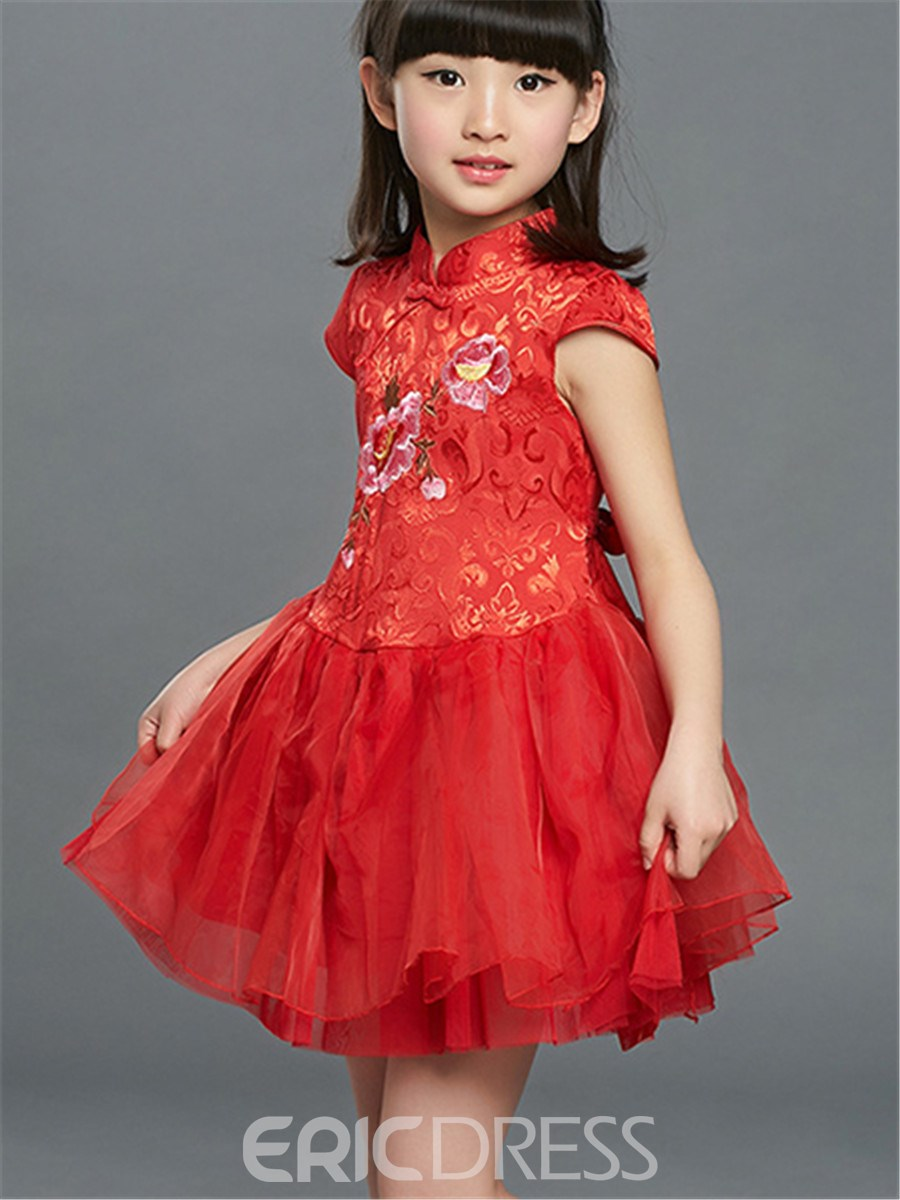 Ericdress Ethnic Patchwork Girls Dress