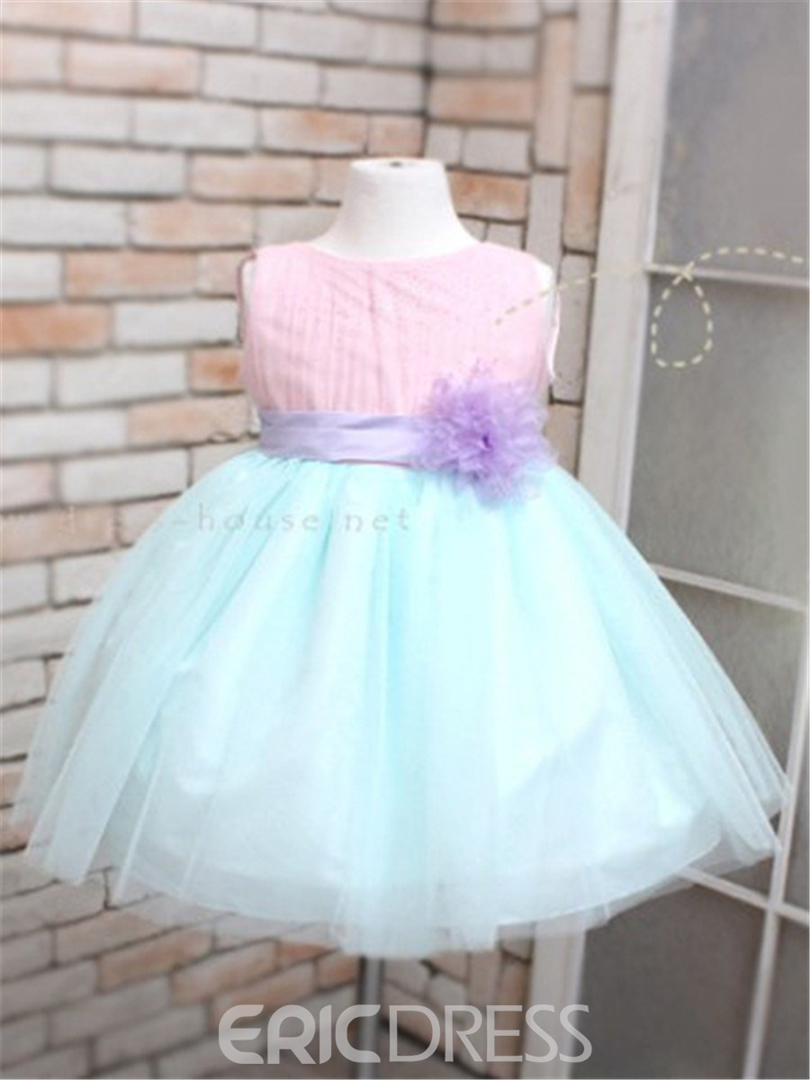 Ericdress Candy Color Patchwork Girls Dress