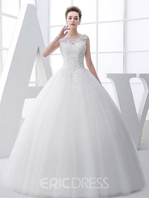 Ericdress Sequins Appliques Ball Gown Wedding Dress