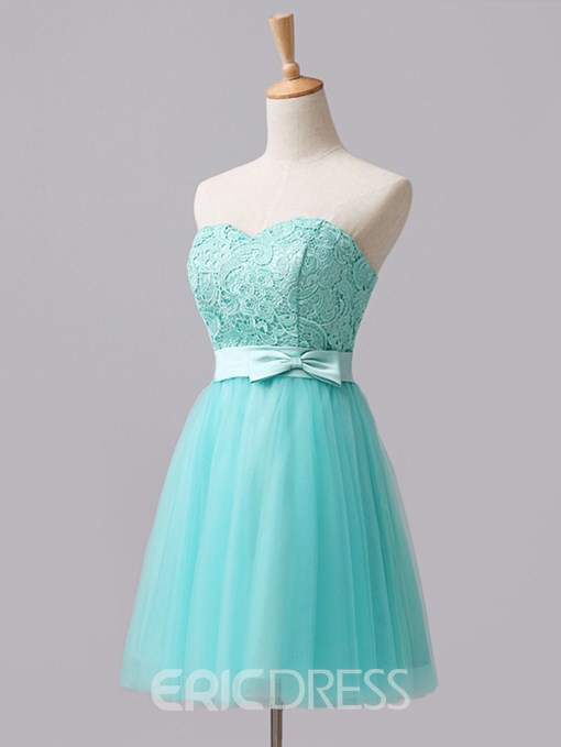 Ericdress Sweetheart Bowknot Lace Bridesmaid Dress
