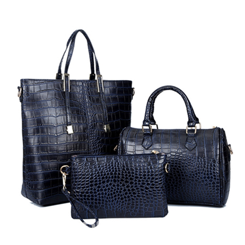 Ericdress Celebrity Croco Handbags(3 Bags)