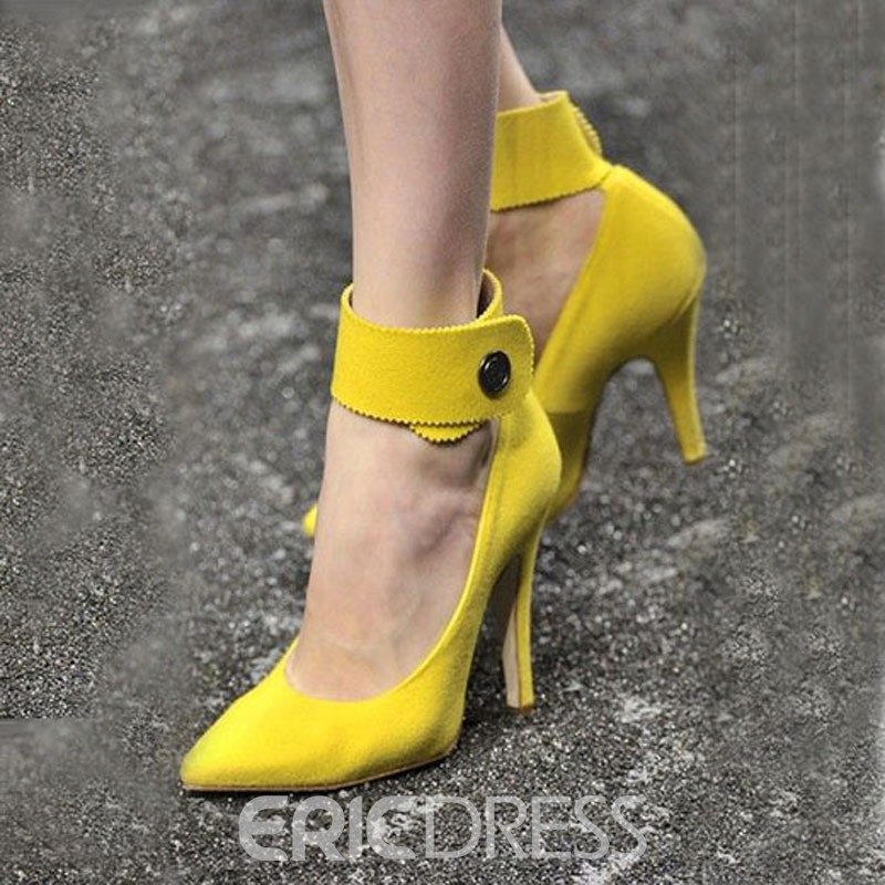 Ericdress jaune Point Toe Prom Shoes
