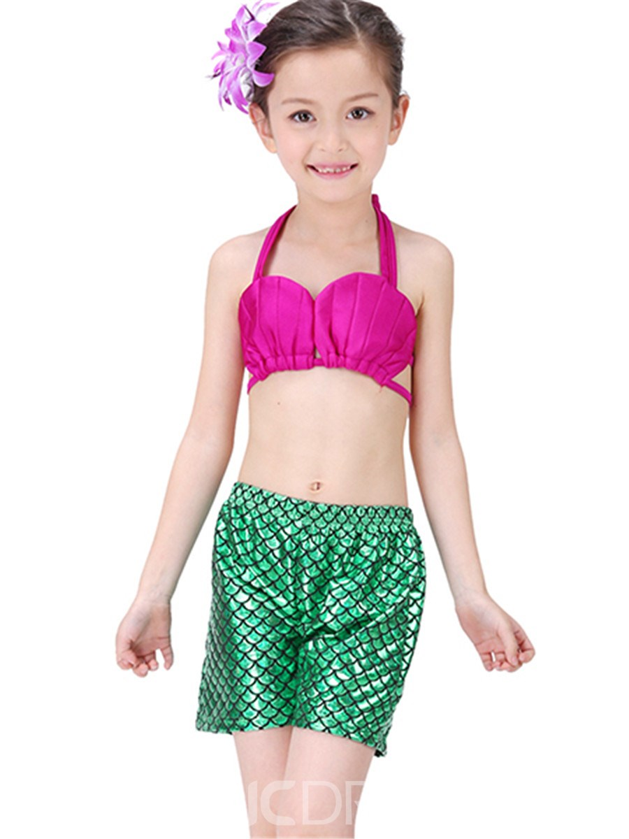 Ericdress Scales Decoration Pleated Beach Girls Outfits