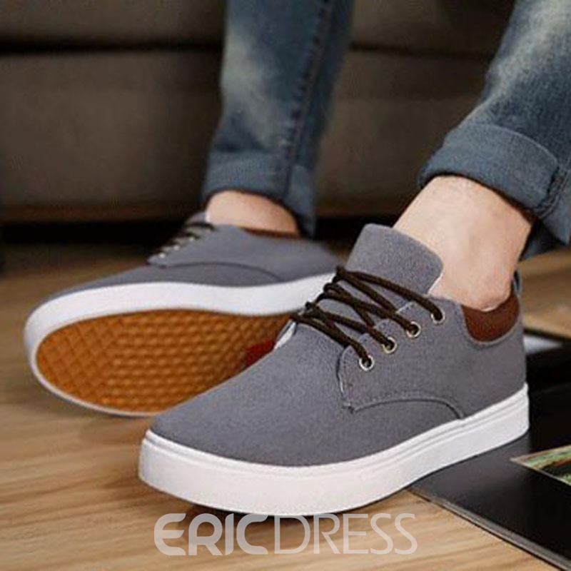 Ericdress Smart Lace up Men's Canvas Shoes