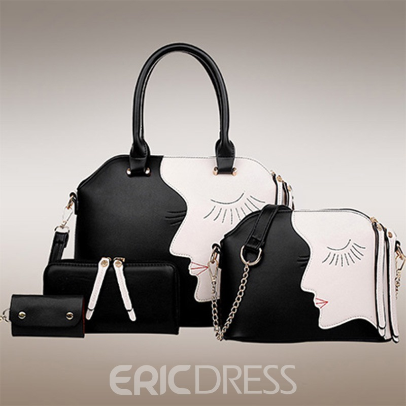 Ericdress Trendy All Match Patchwork Tote Bags(4 Bags)