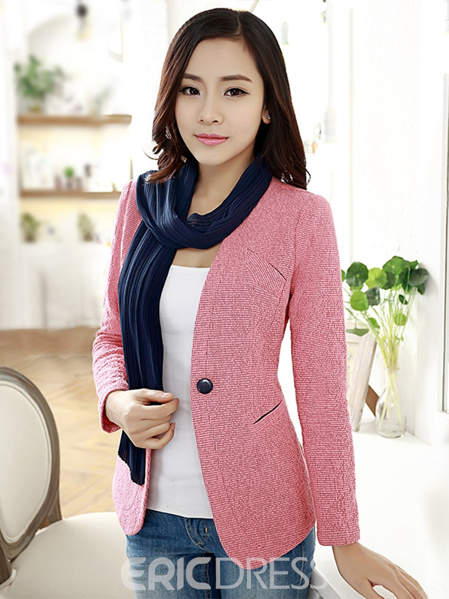 Ericdress Elegant One-Button Slim Blazer