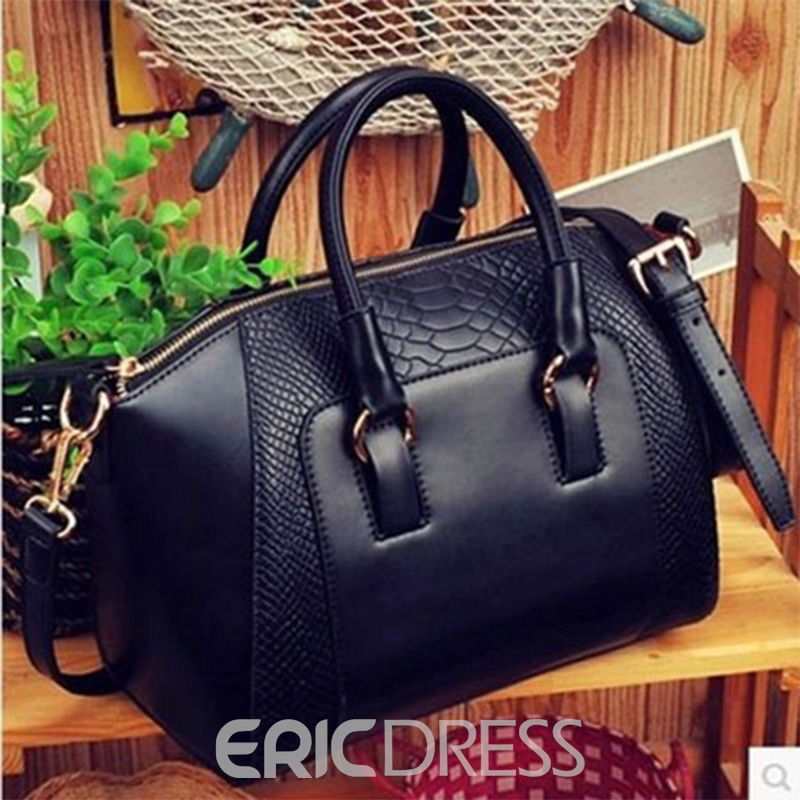Ericdress Vintage Crocodile Commute Handbag
