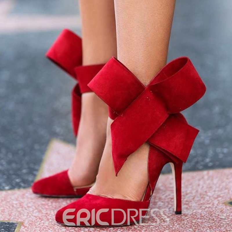 Ericdress Sweet Bowknot Pointed-toe Stiletto Sandals
