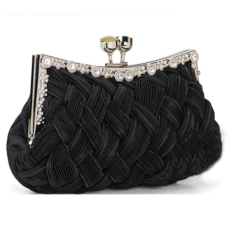 Elegant Satin Rhinestones Handbag for Wedding/Evening(7colors)